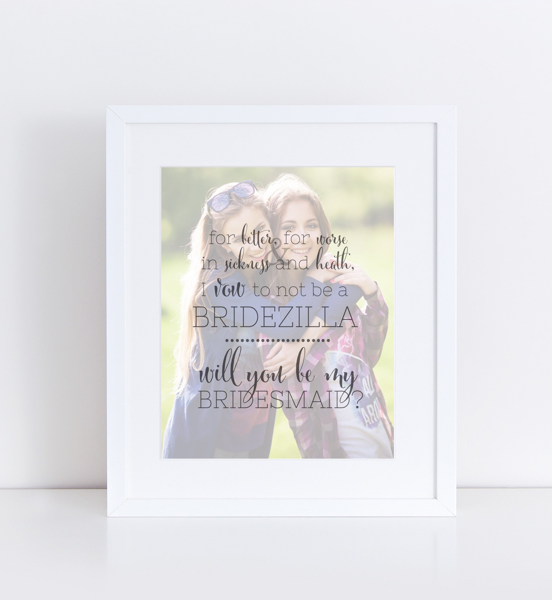 Bridesmaids Gift Personalized Photo Quote