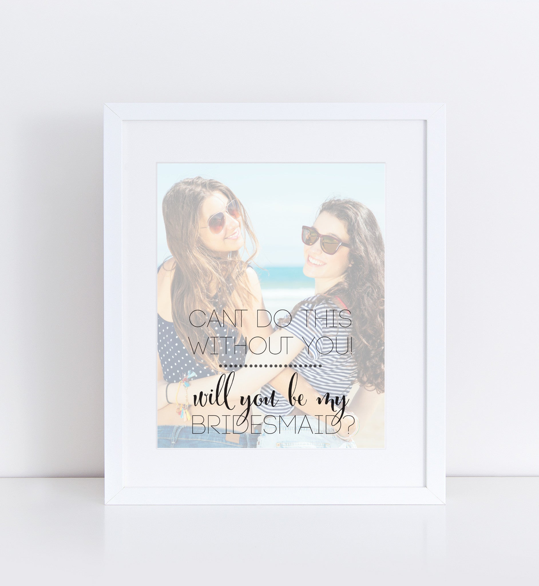 Bridesmaid Personalized Photo Quote
