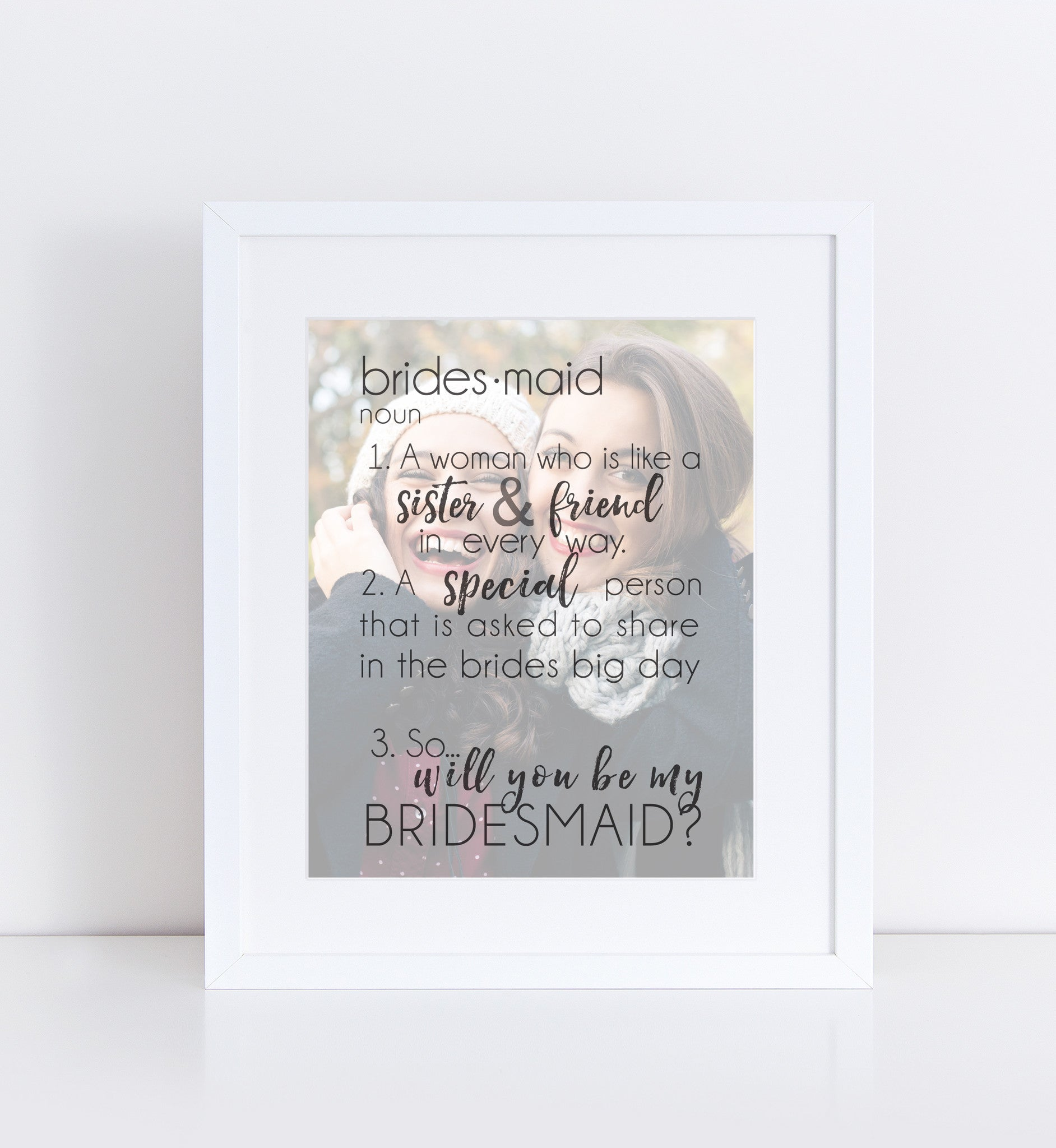 Personalized Bridesmaid Personalized Photo Quote
