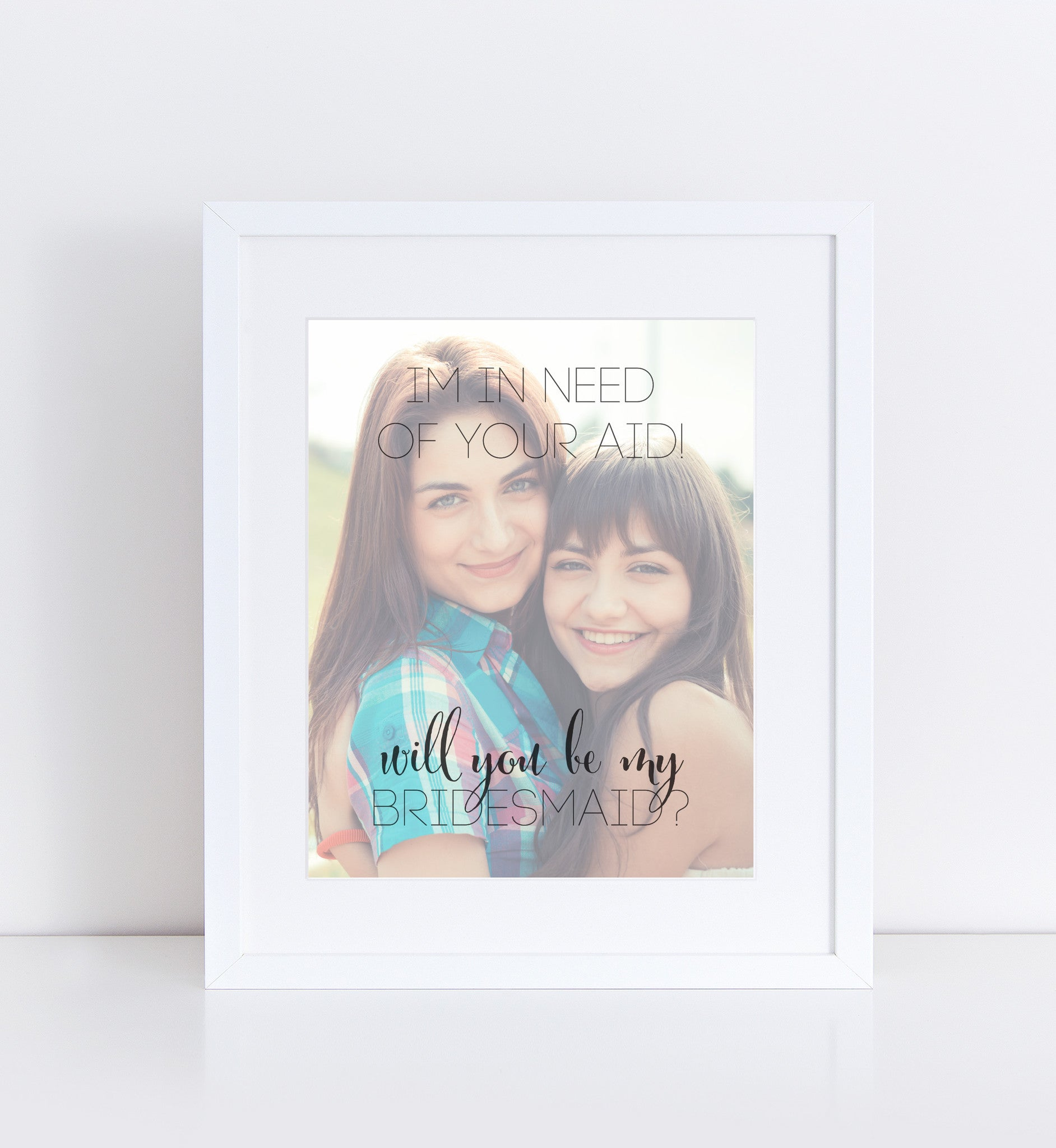 Will You Be My Bridesmaid Personalized Photo Quote