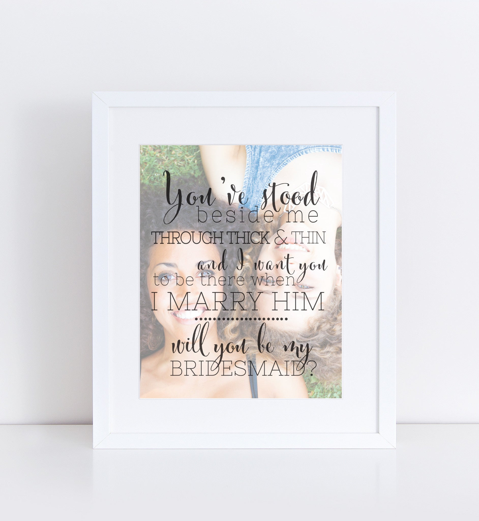 Bridesmaid Proposal Personalized Photo Quote