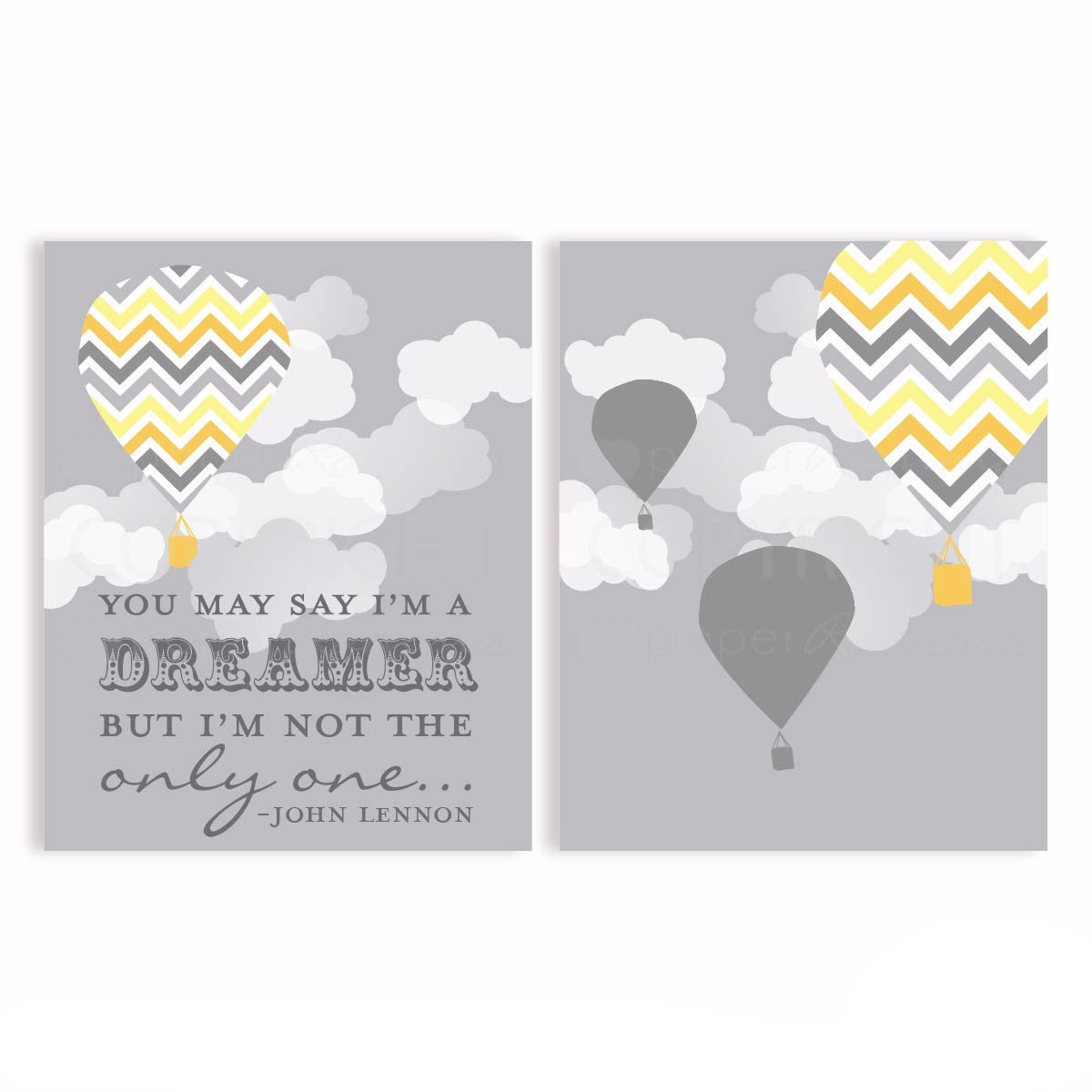 You may say I'm a Dreamer Nursery & Kids Art Print Set