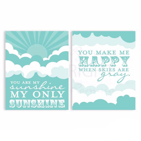 You are My Sunshine Nursery Style: Sunshine and Clouds