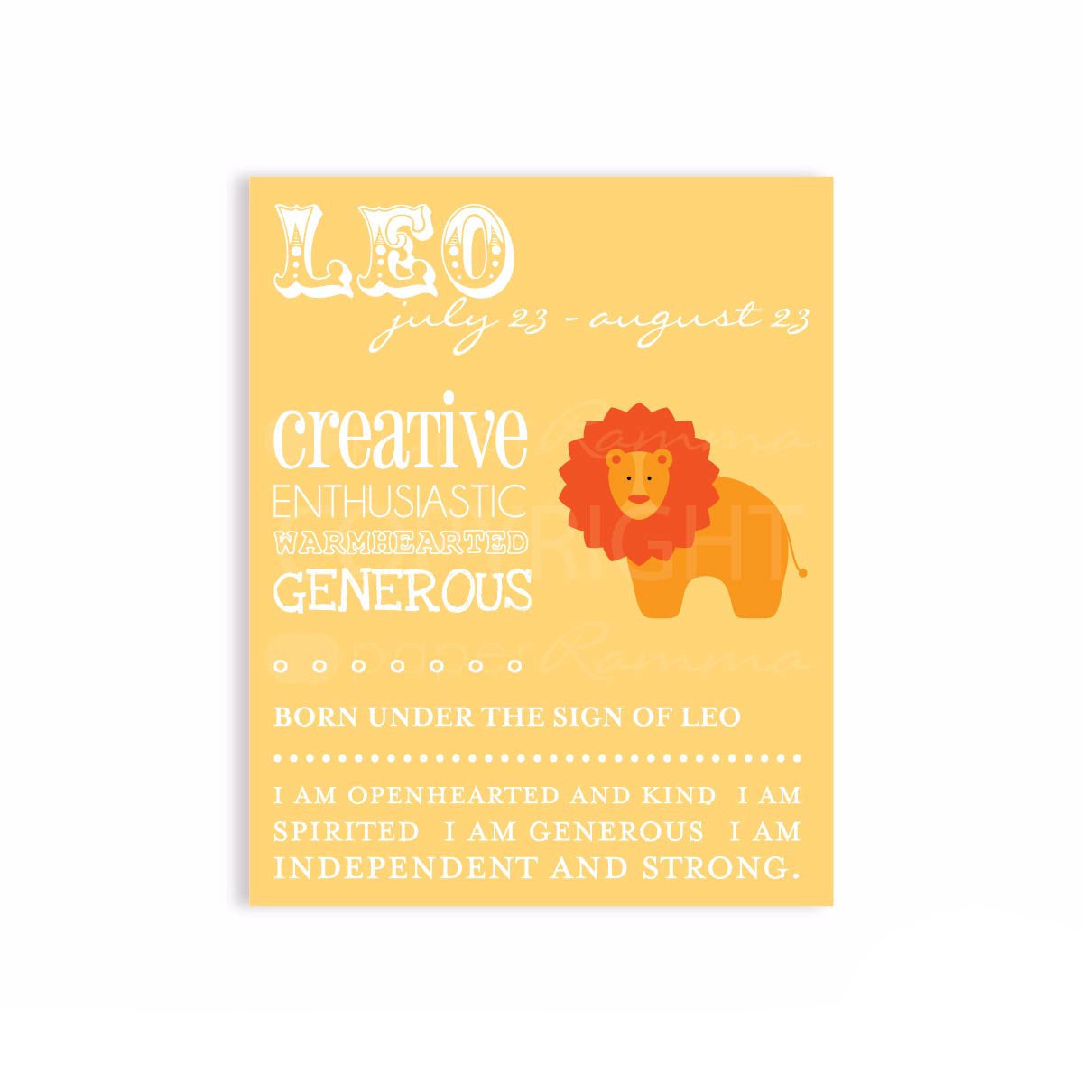Leo Zodiac Nursery & Kids Art Print