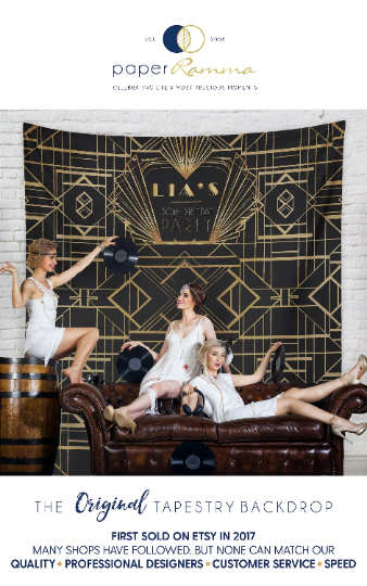 Gatsby Wedding Party Backdrop