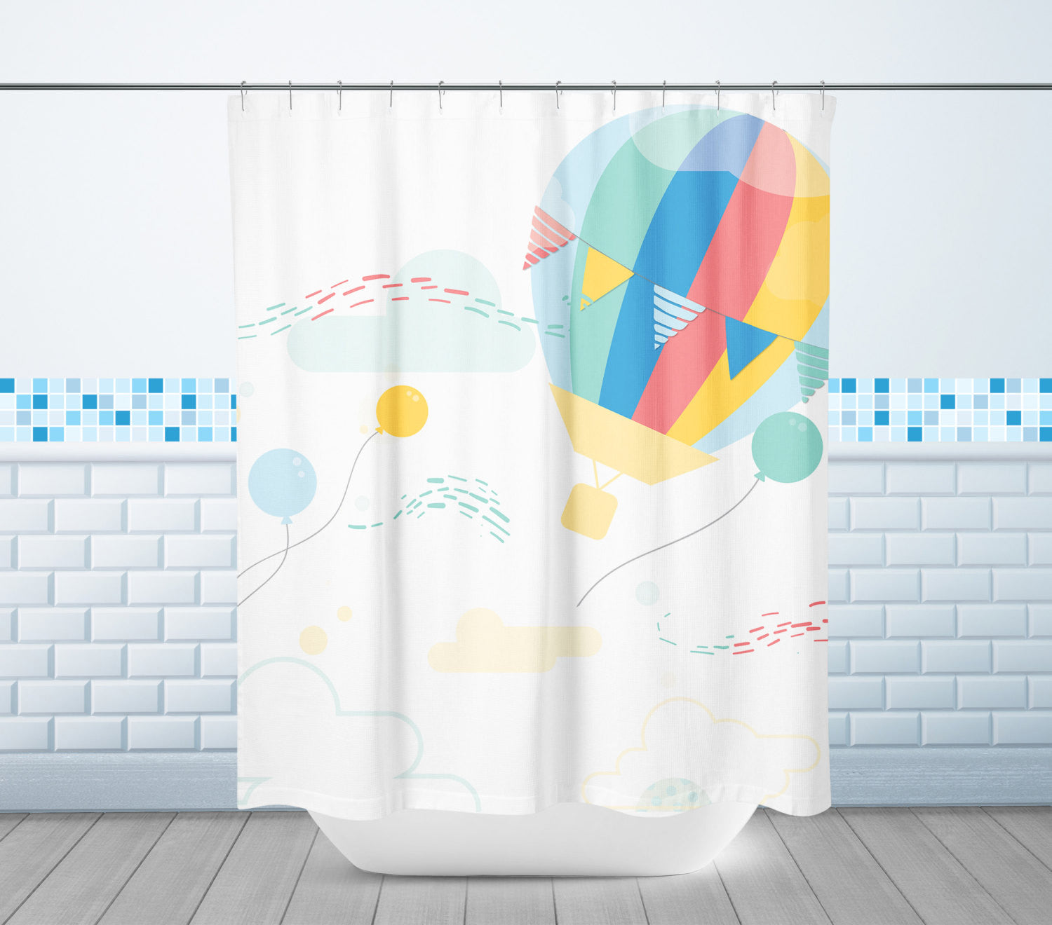 Hot Air Ballon Shower Curtain
