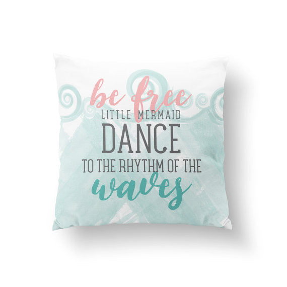 Custom Mermaid Nursery Pillow