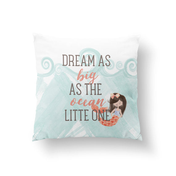 Mermaid Nursery Pillow