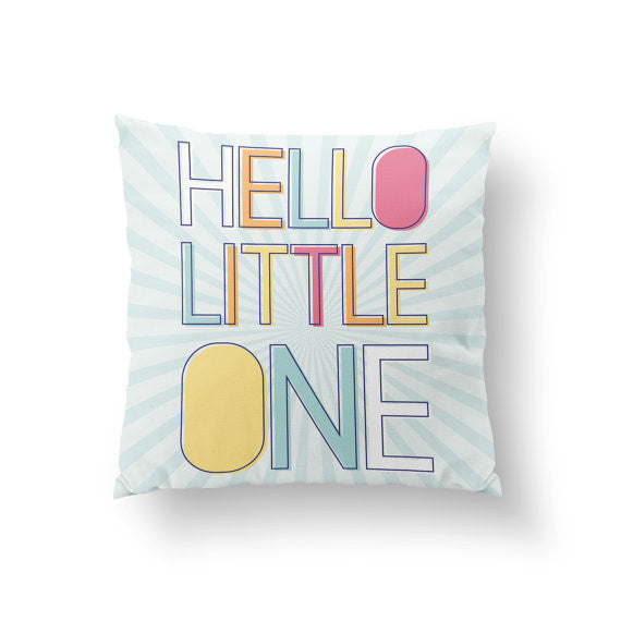 Hello Little One Pillow