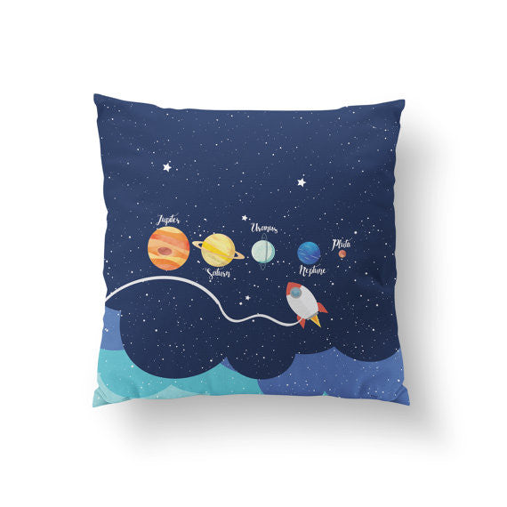 Cosmic Planets and Stars Pillow