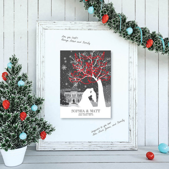 Winter Wedding Guestbook