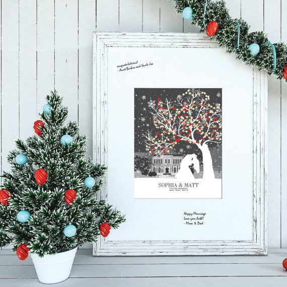 Christmas Wedding Guestbook