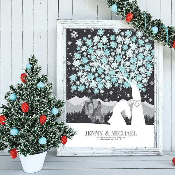 Winter Wonderland Wedding Guestbook