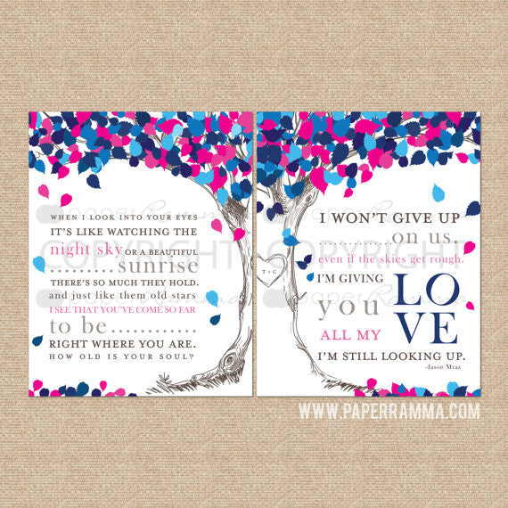 Personalized Wedding Anniversary Gift - I won't give up, Wedding Anniversary