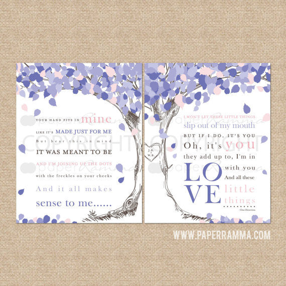 Wedding Song Lyric Tree, Little Things