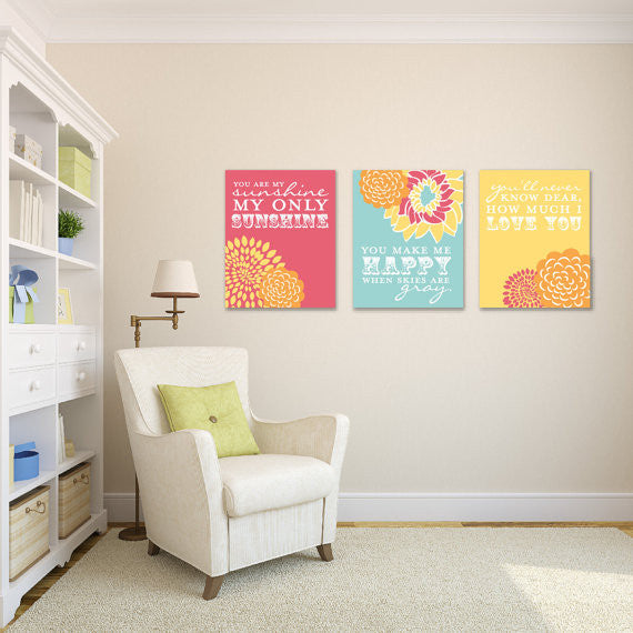 Nursery canvas art and nursery wall art 76thandnewbury