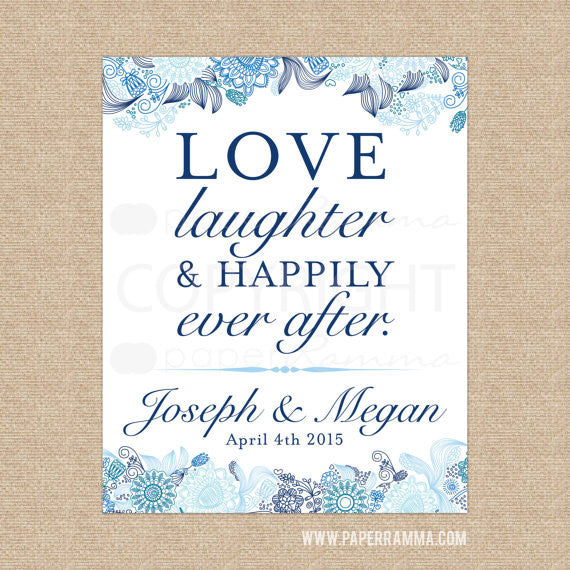 Elegant Wedding Welcome Sign with Quote