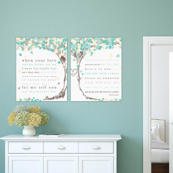 Custom Wedding Song Lyric Tree Gift, Wedding Anniversary