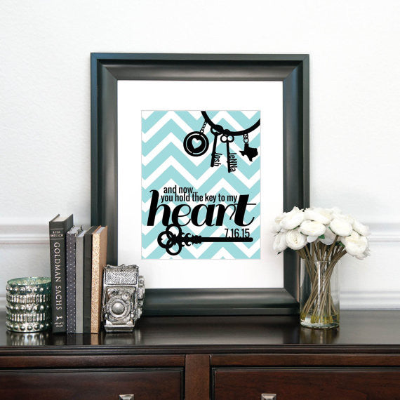 Wedding Print - Key to My Heart