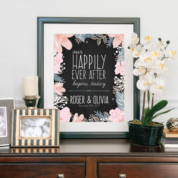 Modern Wedding Welcome Sign with Quote