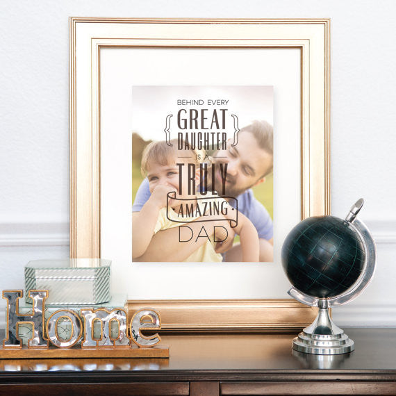 Custom Gift for Dad, Personalized Photo Quote