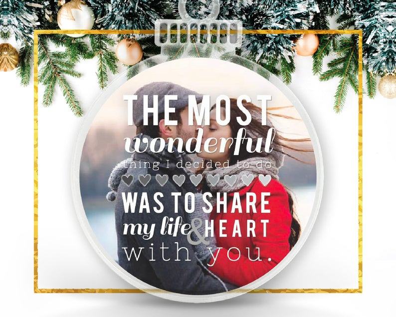 Couple Christmas Personalized Photo Ornament