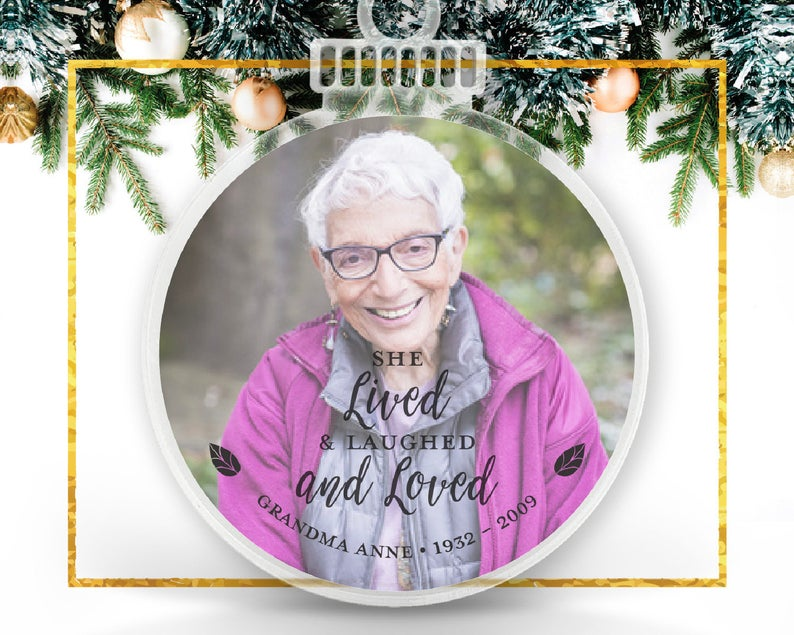 Lived & Loved Personalized Photo Ornament