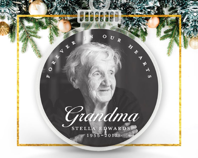 Forever In Our Hearts Personalized Photo Ornament