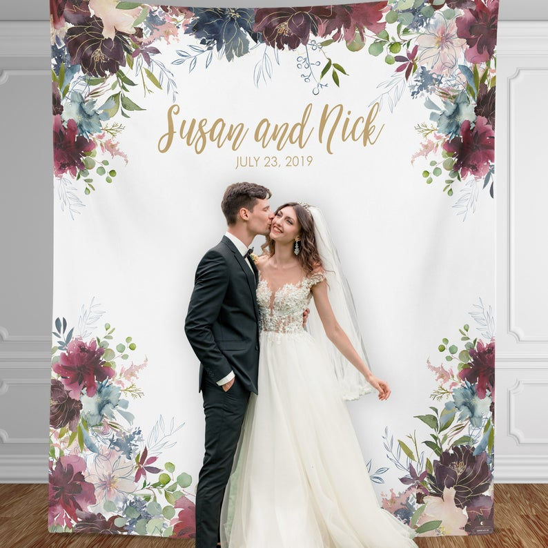 Watercolor Floral Backdrop