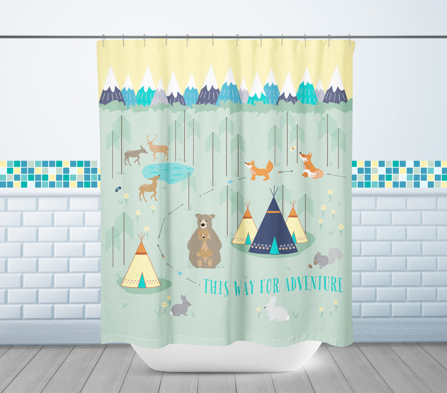 Woodland Adventure Shower Curtain