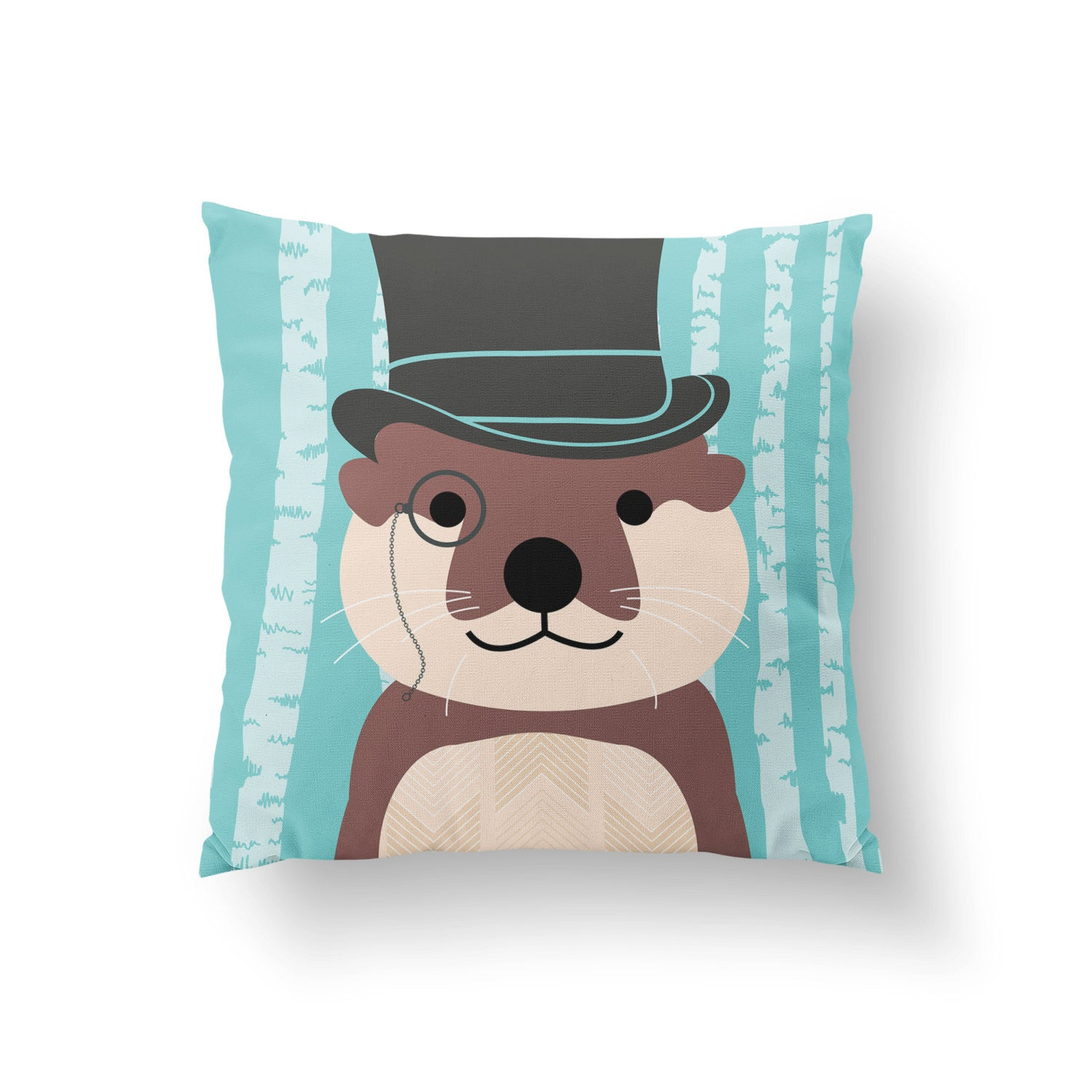 Otter Woodland Adventure Pillow