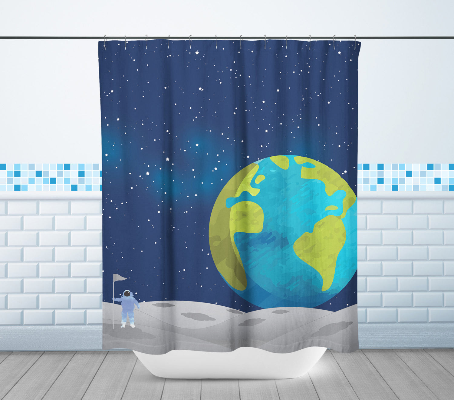 Moon & Earth Shower Curtain