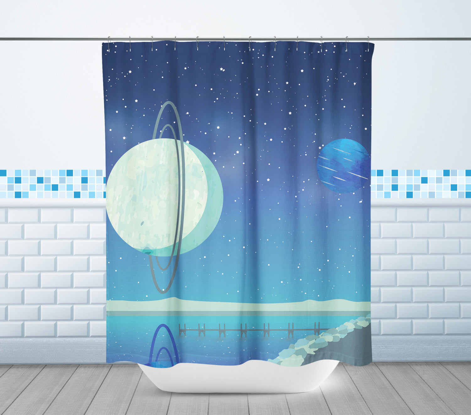 Uranus & Neptune Shower Curtain