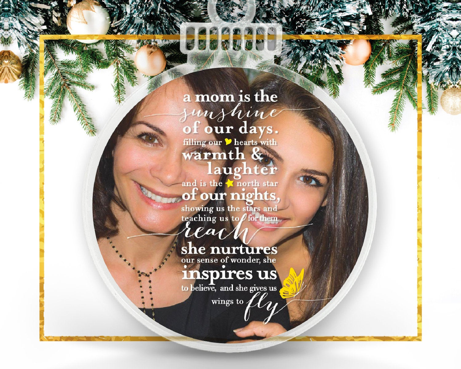 Personalized Photo Ornament for Mom