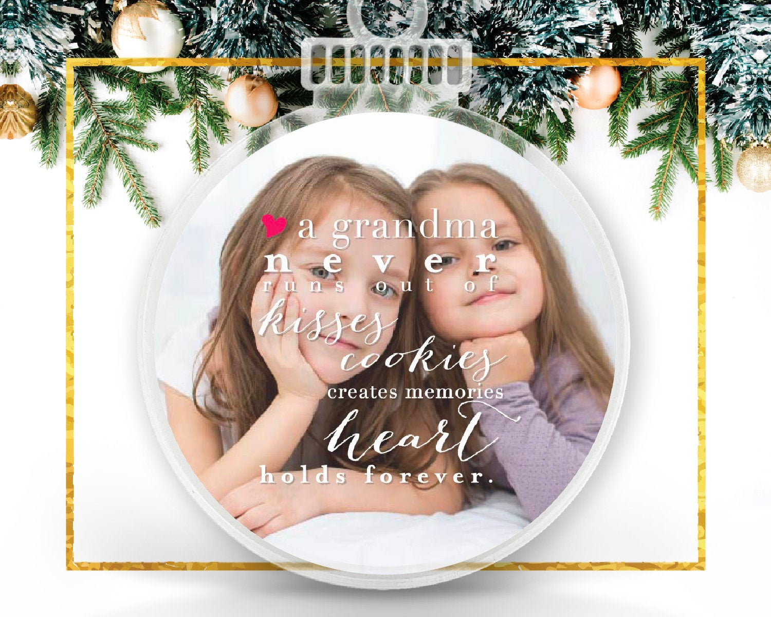 Ornament for Grandma Personalized Photo Ornament