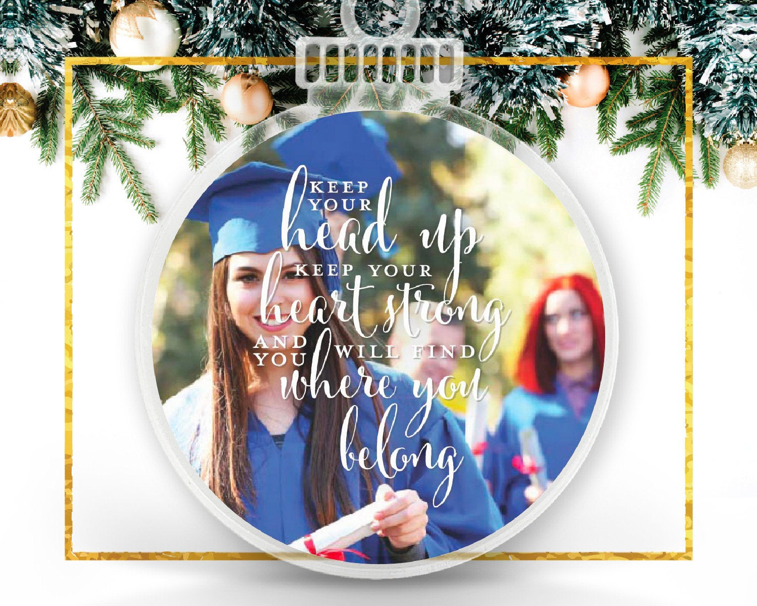 Graduation Personalized Photo Ornament