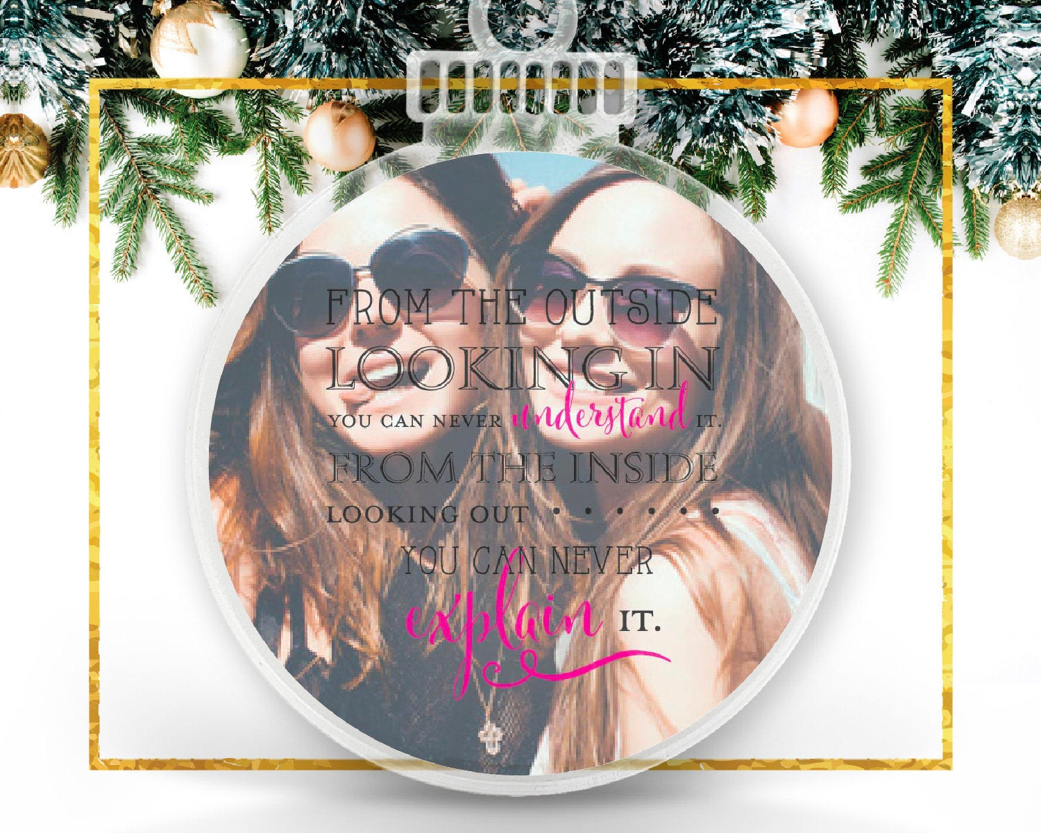 Sorority Personalized Photo Ornament
