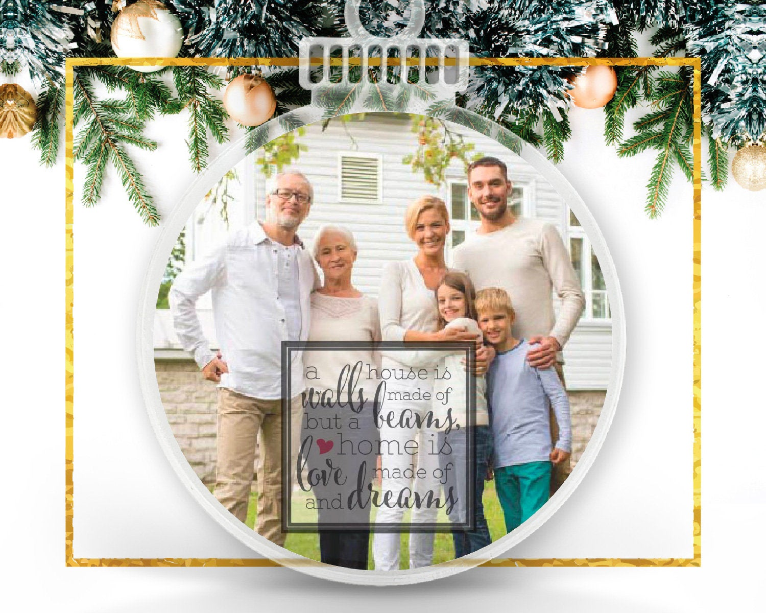 Housewarming Personalized Photo Ornament