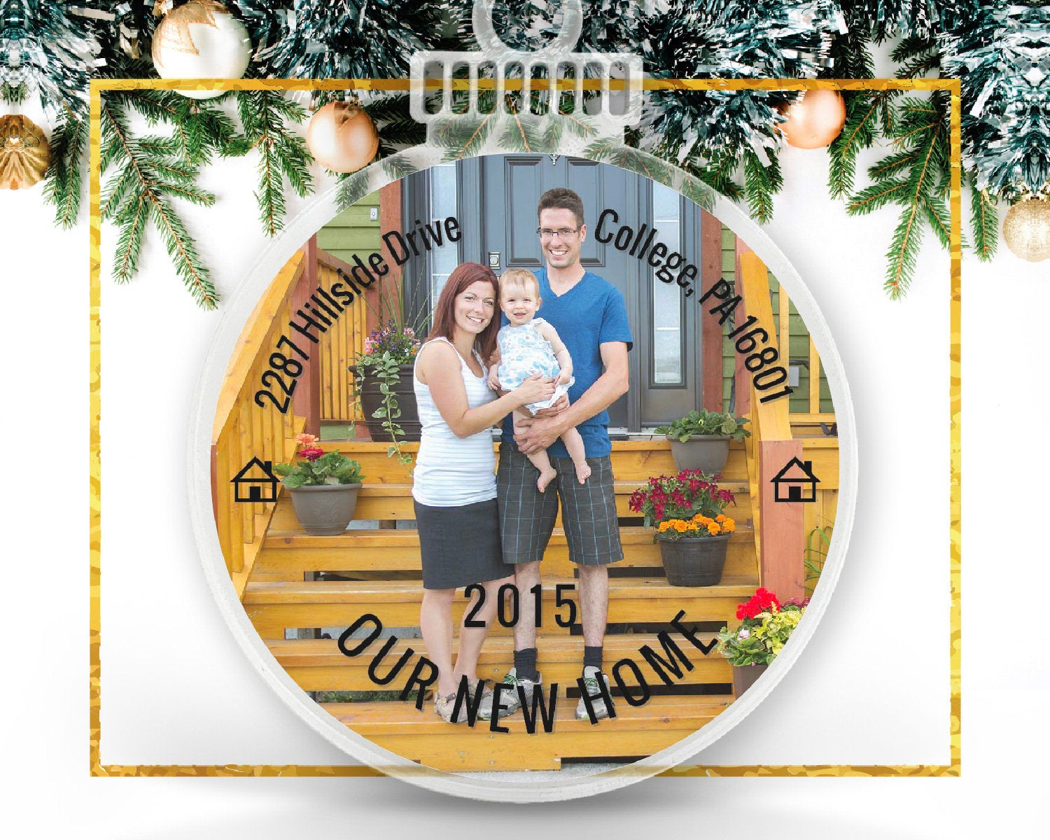 New Home Personalized Photo Ornament