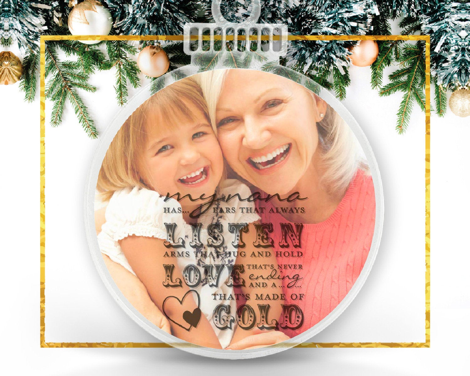 Nana Tree Personalized Photo Ornament
