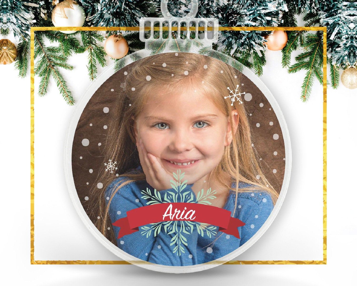 Kids Personalized Photo Ornament