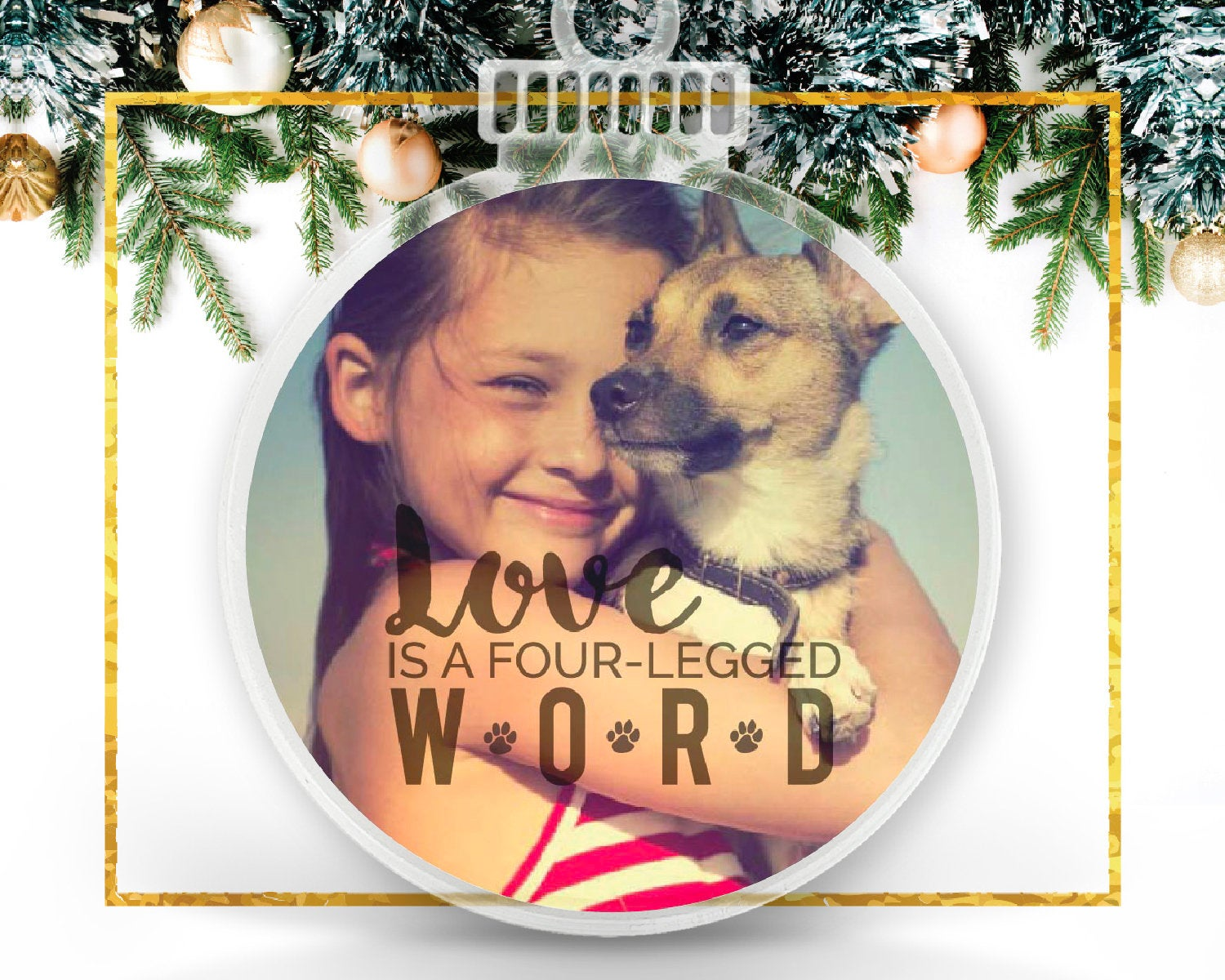 Personalized Photo Ornament for Dog or Cat Lover
