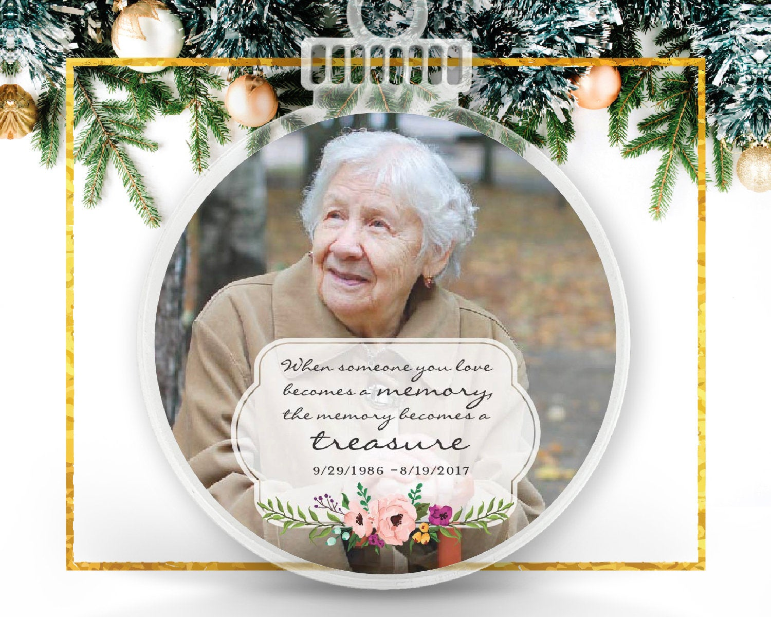 Remembrance Personalized Photo Ornament