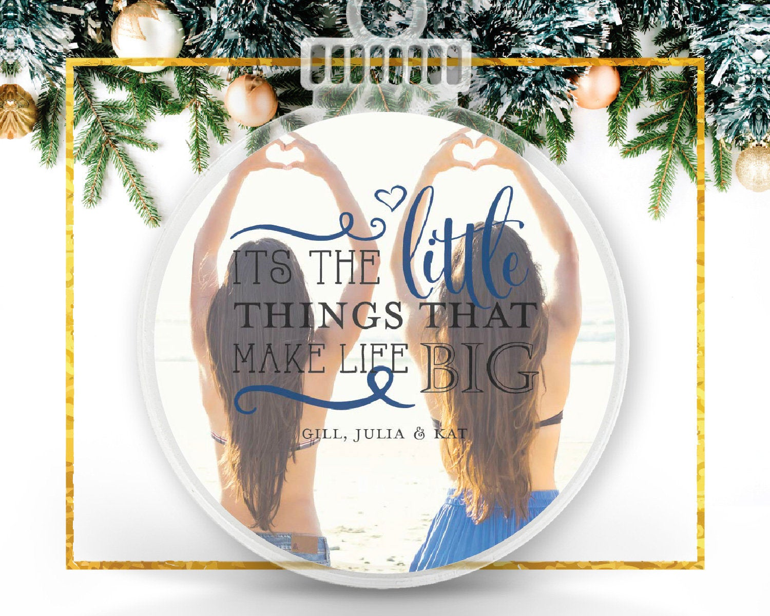 Little Things, Personalized Photo Ornament