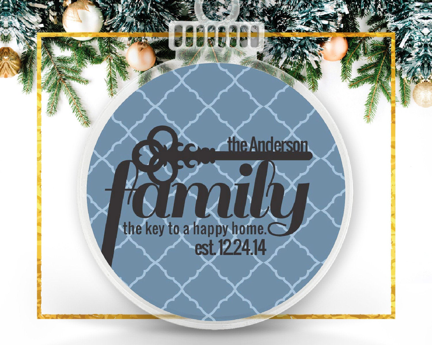 Personalized Family Key Ornament