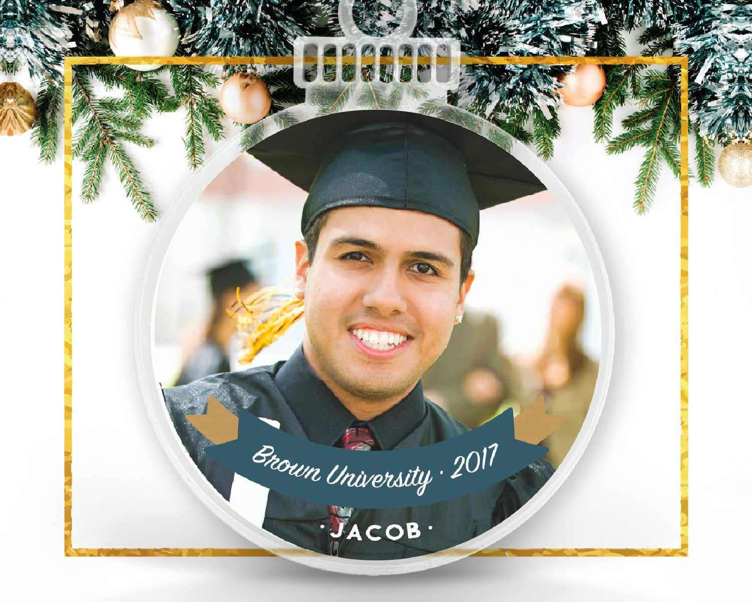 Personalized Graduation Photo Ornament
