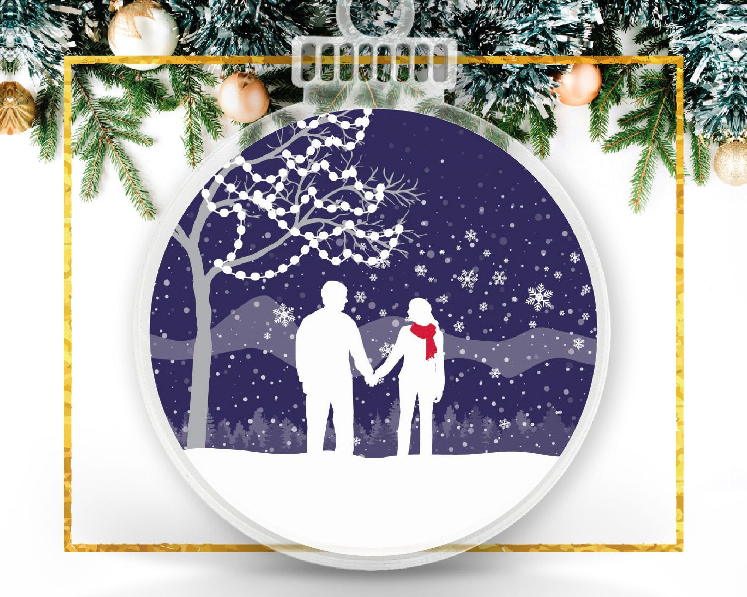 Our First Christmas Newlywed Custom Ornament