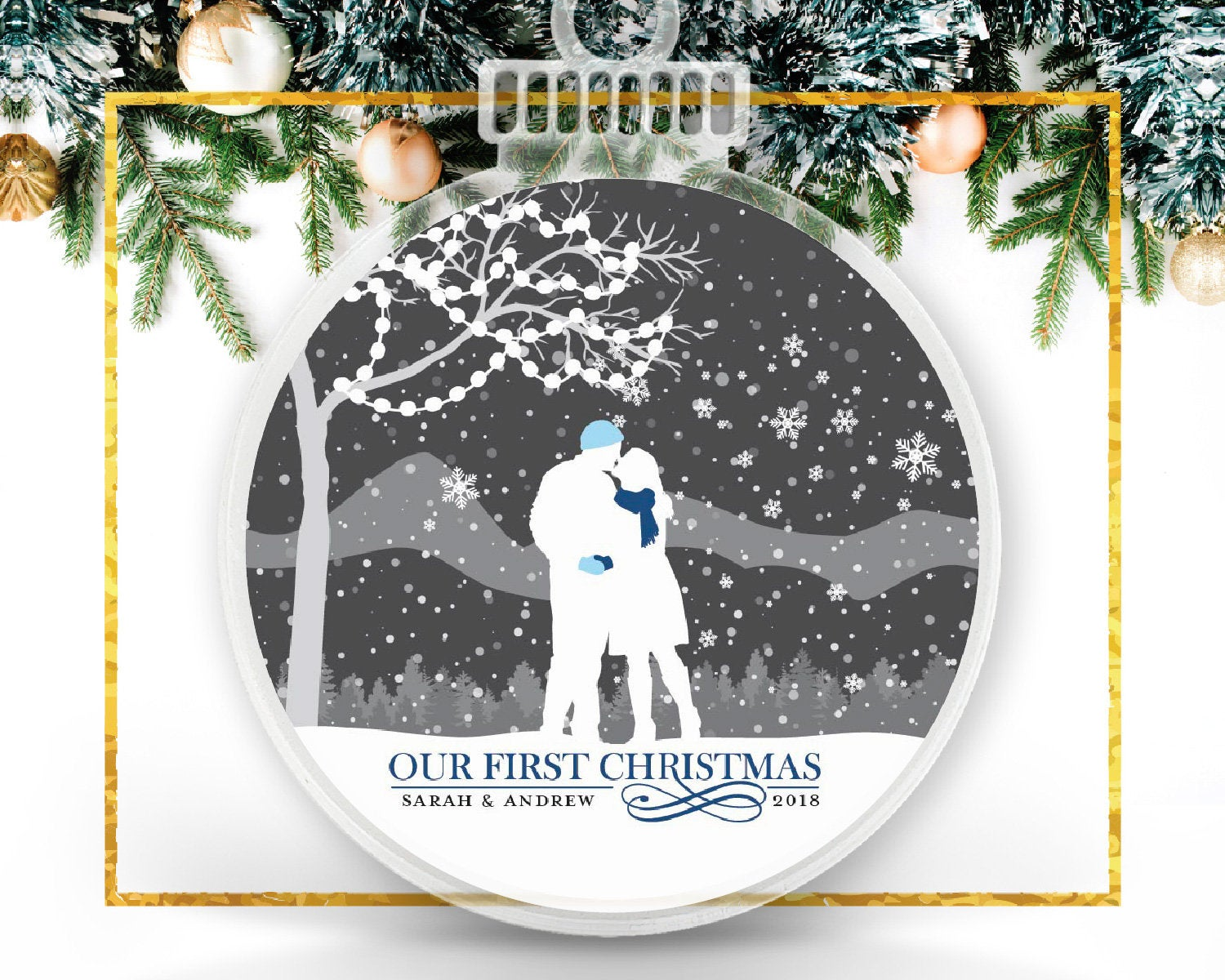 Newlywed Personalized Ornament
