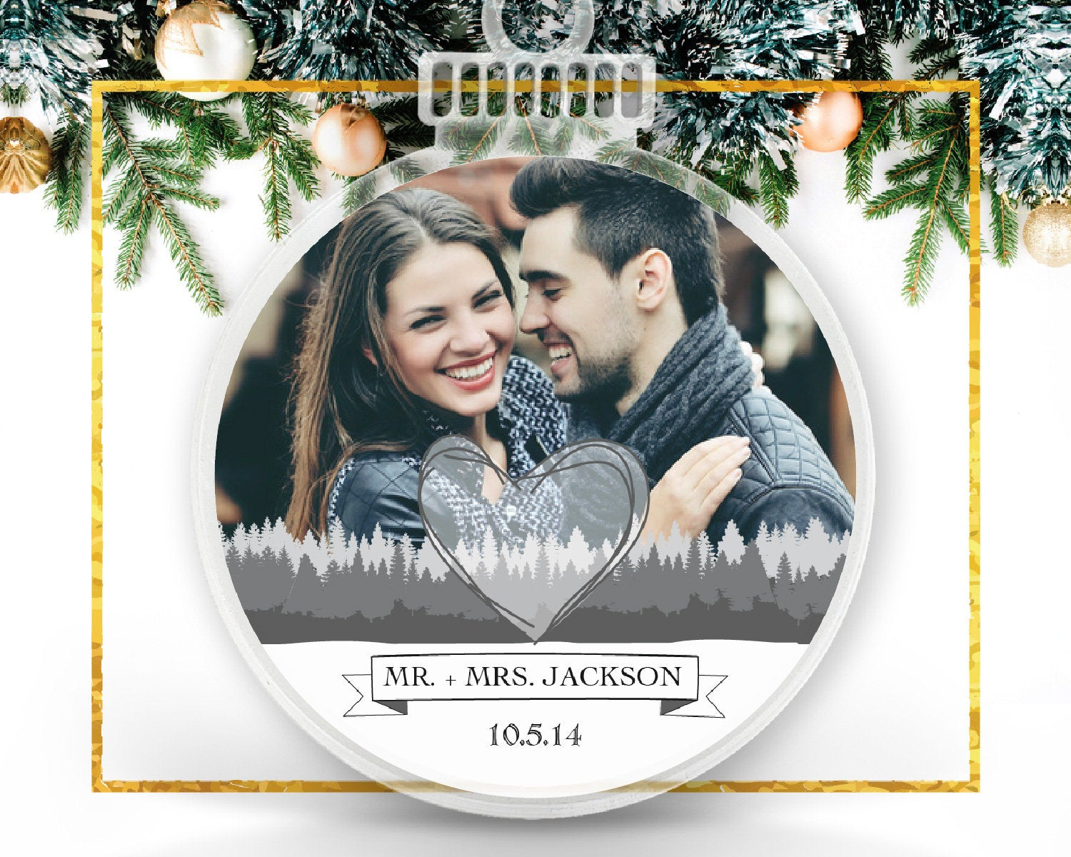 Love Fingerprint Personalized Photo Ornament