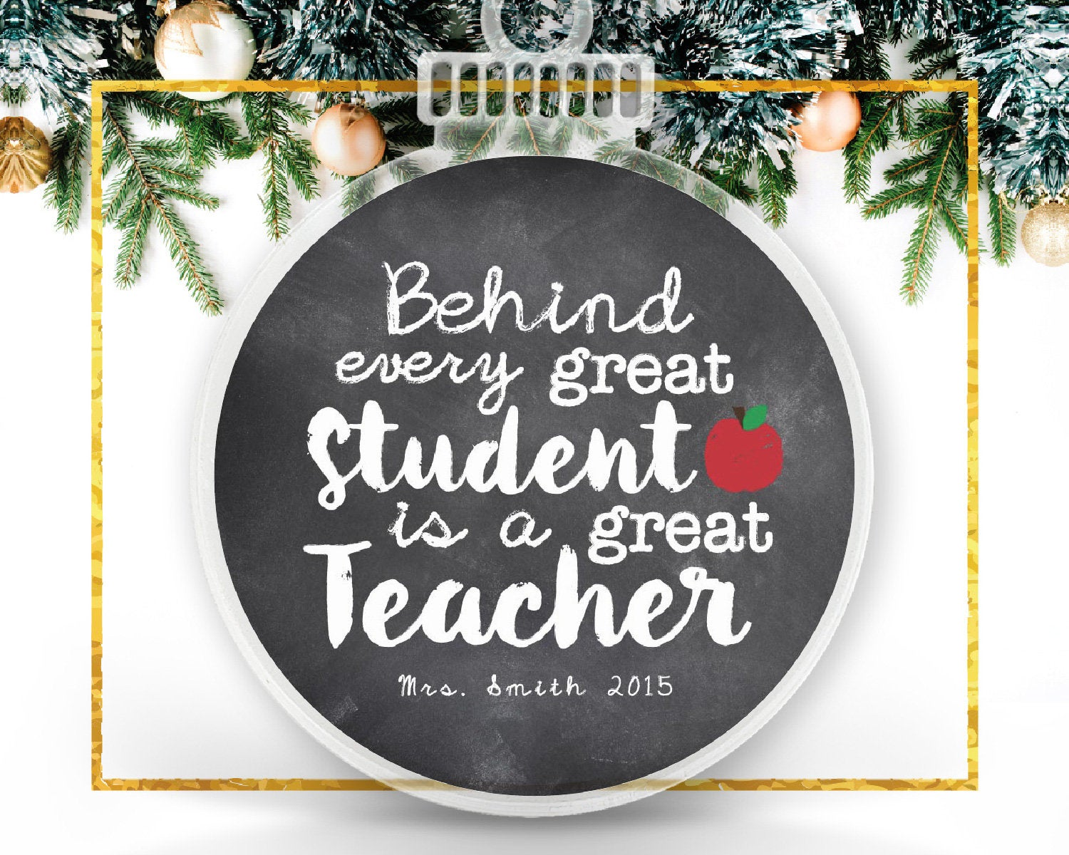 Great Teacher Personalized Ornament